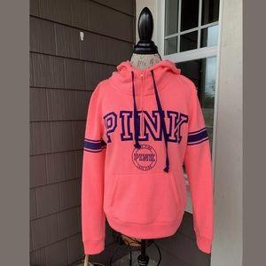 NWOT PINK Sport Victoria's Secret 1/4 Zip Hoodie M